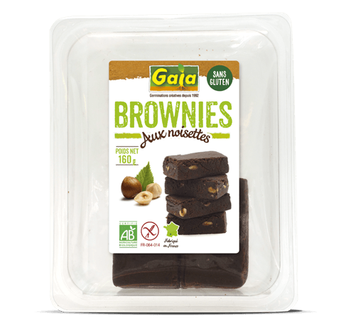 Brownies aux noisettes Gaia